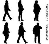 set silhouette of people... | Shutterstock .eps vector #1045619257