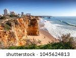 portimao  city on the atlantic... | Shutterstock . vector #1045624813