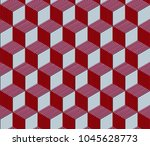 abstract geometric cube vector... | Shutterstock .eps vector #1045628773
