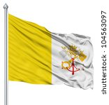 flag of vatican city with... | Shutterstock . vector #104563097
