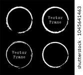 set of grunge ink circle frames.... | Shutterstock .eps vector #1045641463