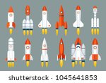 space rocket start up launch... | Shutterstock .eps vector #1045641853