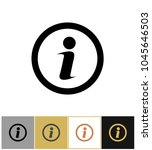 info icon  information round... | Shutterstock .eps vector #1045646503