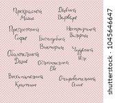 set of hand written russian... | Shutterstock .eps vector #1045646647