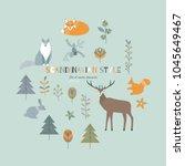 collection of scandinavian... | Shutterstock .eps vector #1045649467