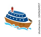 ship icon. cruise  tour ... | Shutterstock .eps vector #1045654957