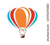 vector air balloon icon ... | Shutterstock .eps vector #1045655083