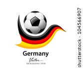 Football Team Germany  Vector...