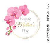 happy mothers day floral spring ... | Shutterstock .eps vector #1045701127