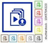 upload playlist flat color... | Shutterstock .eps vector #1045704223