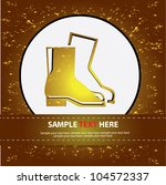 safety boot on abstract... | Shutterstock .eps vector #104572337