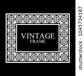 vintage white border frame with ... | Shutterstock .eps vector #1045734187