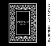 vintage white border frame with ... | Shutterstock .eps vector #1045734193