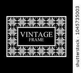 vintage white border frame with ... | Shutterstock .eps vector #1045735003