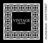vintage  white border frame... | Shutterstock .eps vector #1045735807