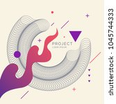 trendy abstract art geometric... | Shutterstock .eps vector #1045744333
