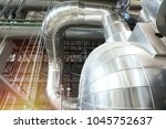 equipment  cables and piping as ... | Shutterstock . vector #1045752637