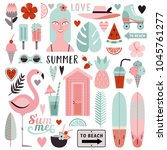 big set of stylish elements on... | Shutterstock .eps vector #1045761277