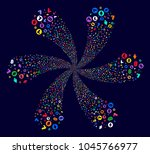 colorful cryptocurrency symbols ... | Shutterstock . vector #1045766977