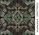 creative ethnic style square... | Shutterstock .eps vector #1045770013