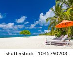 beautiful beach landscape.... | Shutterstock . vector #1045790203