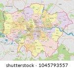high detail greater london... | Shutterstock .eps vector #1045793557