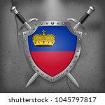 flag of liechtenstein. the...   Shutterstock .eps vector #1045797817