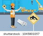 under construction design | Shutterstock .eps vector #1045801057