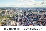 panoramic view of the city of... | Shutterstock . vector #1045802377