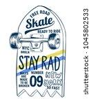 skate board vector... | Shutterstock .eps vector #1045802533