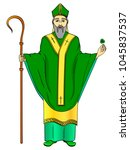 pop art patron saint of ireland.... | Shutterstock .eps vector #1045837537