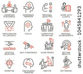 vector set of linear icons... | Shutterstock .eps vector #1045841293