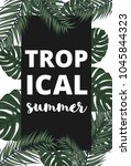 summer vector banner with palm... | Shutterstock .eps vector #1045844323