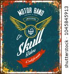vintage bikers club motor band... | Shutterstock .eps vector #1045845913