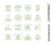smart garden tech icons   Shutterstock .eps vector #1045858867