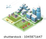 set of isolated high quality... | Shutterstock .eps vector #1045871647