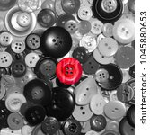 red_button in gray backgrownd... | Shutterstock . vector #1045880653