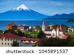 city of puerto varas with... | Shutterstock . vector #1045891537