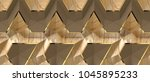 3d solid oak panels with blown... | Shutterstock . vector #1045895233