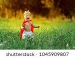 little boy prince child king... | Shutterstock . vector #1045909807