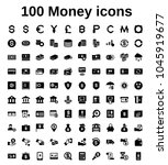 money icon set | Shutterstock .eps vector #1045919677