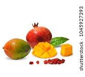 fresh garnet  nutritious and... | Shutterstock .eps vector #1045927393