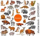 cartoon illustration of wild... | Shutterstock .eps vector #1045928917