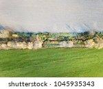 field near lugovaya  moscow... | Shutterstock . vector #1045935343