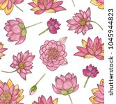 floral seamless pattern with... | Shutterstock .eps vector #1045944823