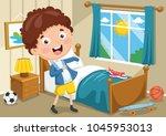 vector illustration of kid... | Shutterstock .eps vector #1045953013