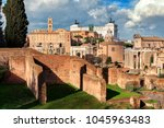 view of ruins of antique roman... | Shutterstock . vector #1045963483
