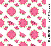 seamless pattern with pieces of ... | Shutterstock .eps vector #1045967233