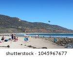 malibu  usa   april 6  2014 ... | Shutterstock . vector #1045967677