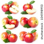collection of fresh apples... | Shutterstock . vector #104598953